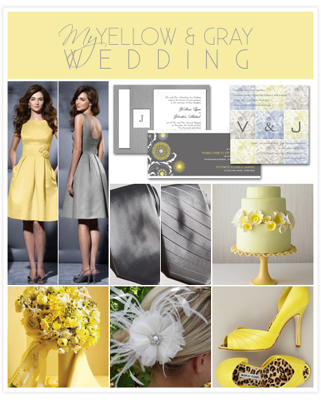 My Yellow And Gray Wedding Inspiration Board