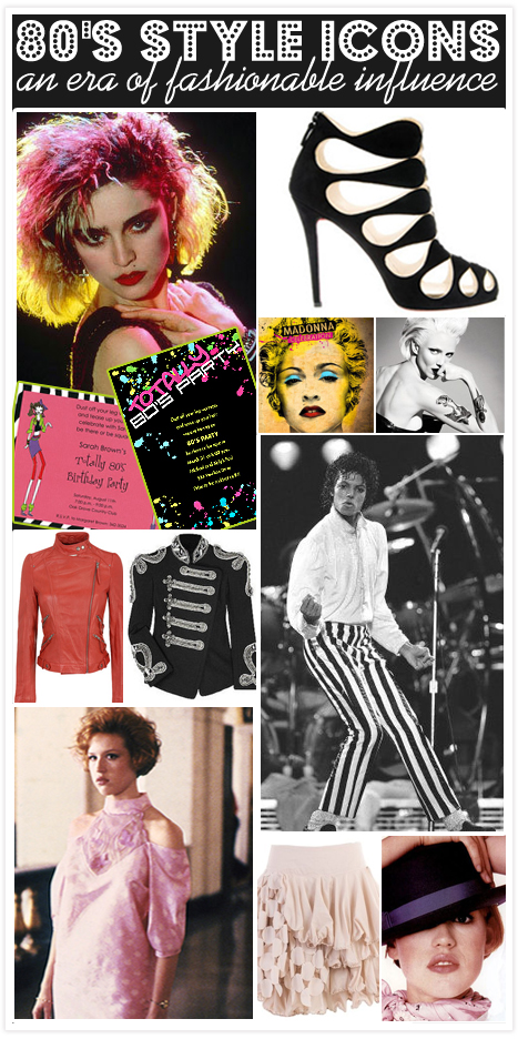 I Love 80 39 S Parties Style Icons Of A Fashionable Decade Invitation Consultants Blog