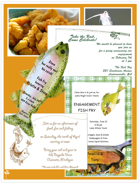 orders I came across several invitations for fishingthemed weddings