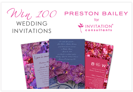 Here 39s your opportunity to win 100 wedding invitations designed by