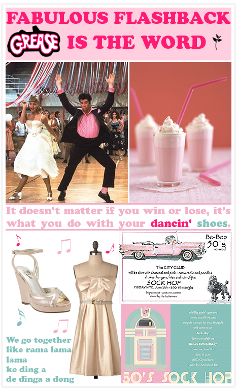 Fabulous Flashback Grease Invitation Consultants Blog Wedding And Party Inspiration