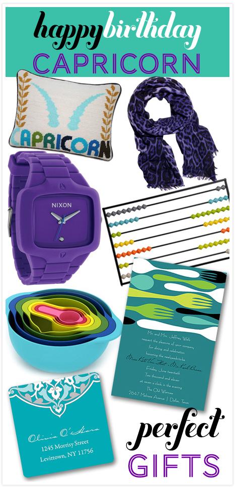 Happy Birthday Capricorns! Zodiac Themed Gifts + Party Ideas ...