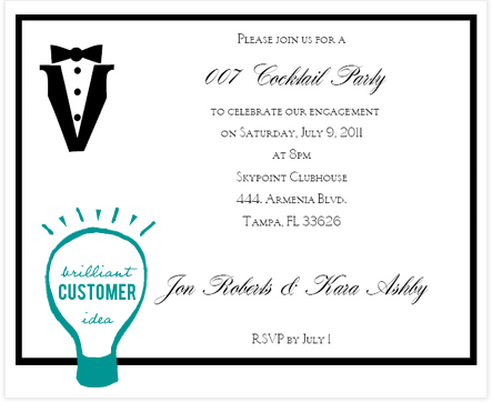 Real Ic Customers 007 Tail Party Invitation Consultants Blog Wedding And Inspiration
