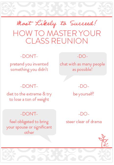 class reunion do u0026 39 s and dont u0026 39 s