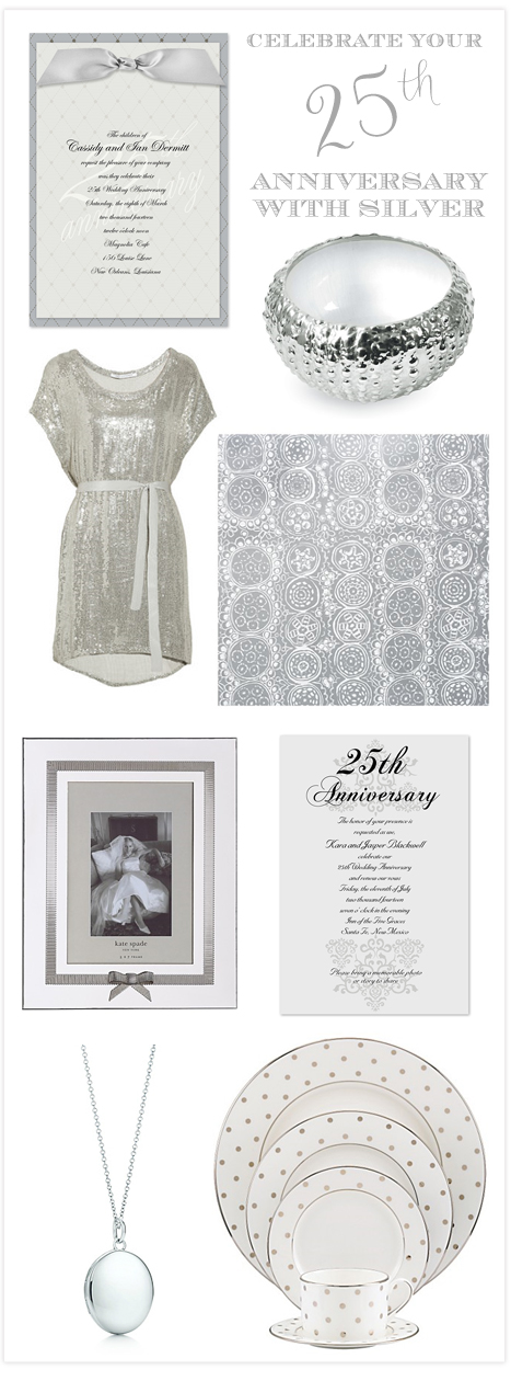 gifts or table decorations or the perfect 25th anniversary invitation
