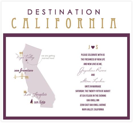Destination California A Vineyard Wedding Invitation