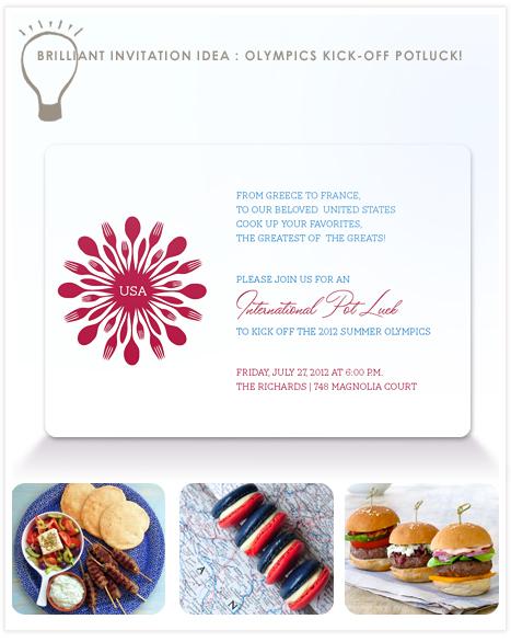 Brilliant Invitation Idea Olympics International Potluck