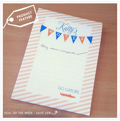 Product Feature Personalized Notepads Invitation Consultants Blog Wedding And Party Inspiration