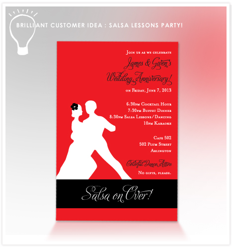 CustomerIdea_ Salsa Lessons Party Salsa Dance Party Invitations