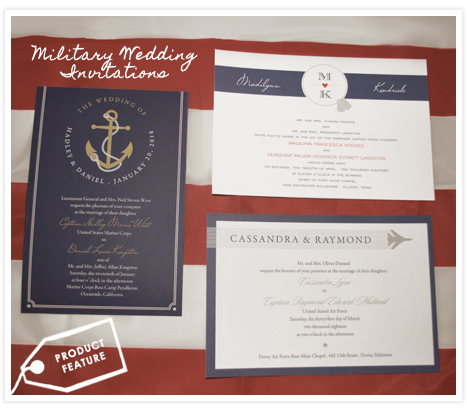 Military Invitations from InvitationConsultants.com