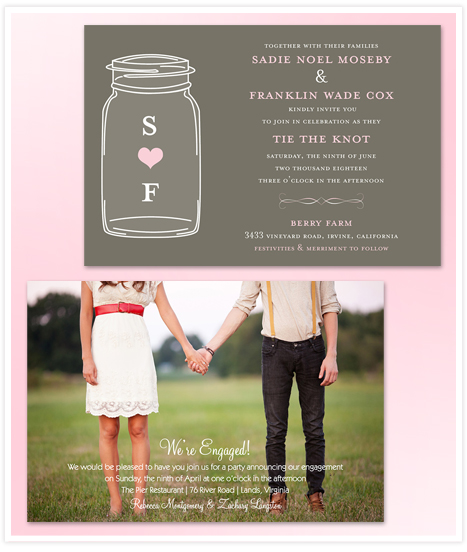 New wedding invitations and engagement announcements from Invitation Consultants