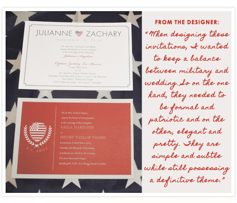 More Military Invitations from InvitationConsultants