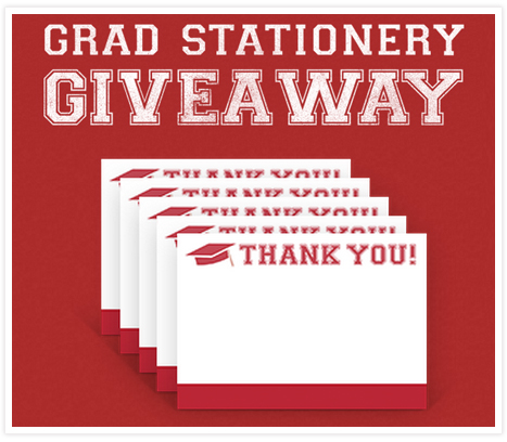 Class of 2013 Grad Giveaway - fill in the form to receive 5 free thank you cards!
