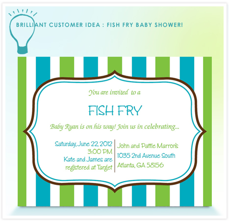 Brilliant Customer Idea_Fish Fry Baby Shower!