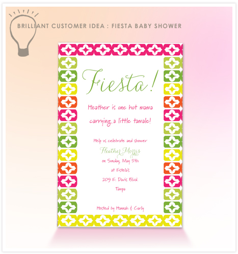 Fiesta Baby Shower invitation wording