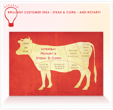 Customer Idea - steak and corn