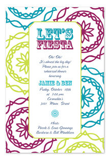 Fiesta invitation from invitation consultants