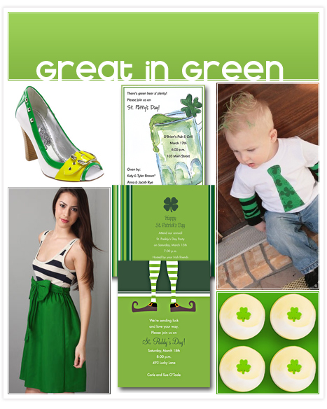 St patricks day green