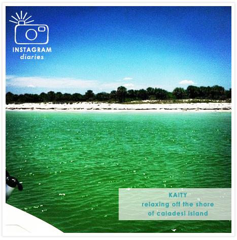 Kaity's Instagram - boating to Caladesi Island
