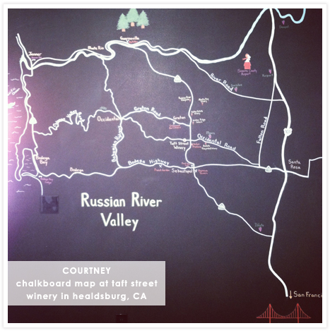 Courtney's Instagram - wine tasting at Taft Street Winery