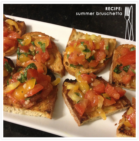 Food Feature_Summer Bruschetta