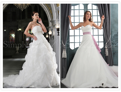 Wedding gowns by Simply Bridal