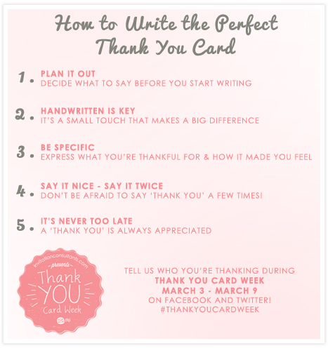 How to write the perfect thank you card #thankyoucardweek