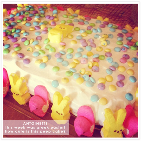 Antoinette Celebrated Greek Easter With the Cutest Cake EVER.