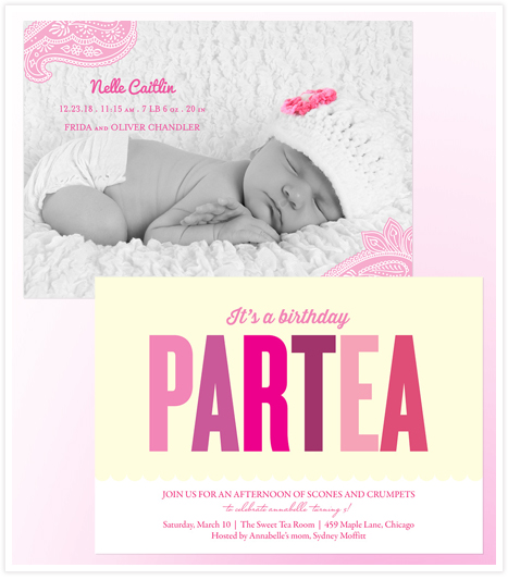 Sip n See - baby shower and tea party invitations