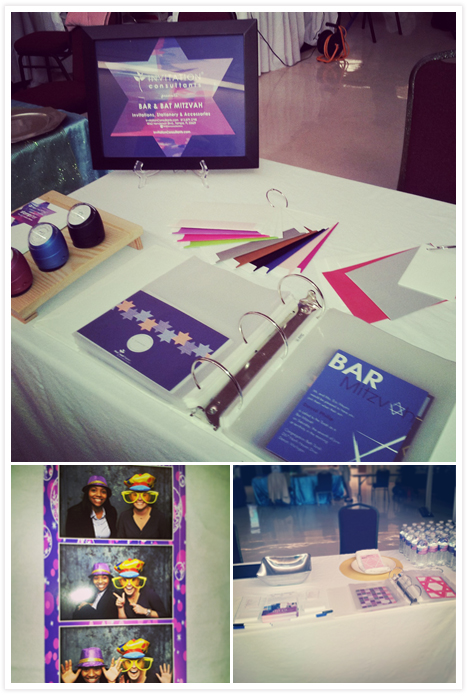 Invitation Consultants showcased our Bar and Bat Miztvah invitations, stationery and accesories!