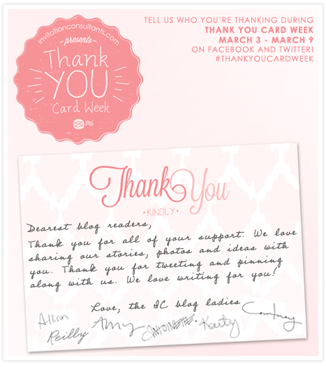 Thank You Card Week - Thank you from the IC bloggers!