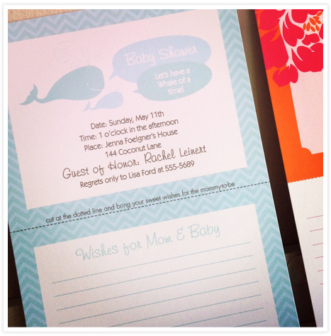 ProductFeature_Tearaway Advice Invitations for Moms and Brides 2