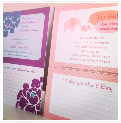 ProductFeature_Tearaway Advice Invitations for Moms and Brides 3