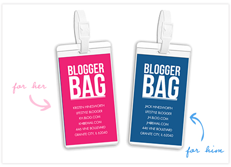 Blogger bag tags