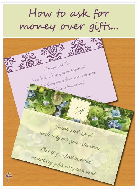 Etiquette For Wedding Gifts When Not Invited : Etiquette We want money!Invitation Consultants BlogWedding ...