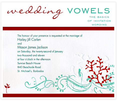 Wedding Vowels Invitation Etiquette Consultants Blog And Party Inspiration
